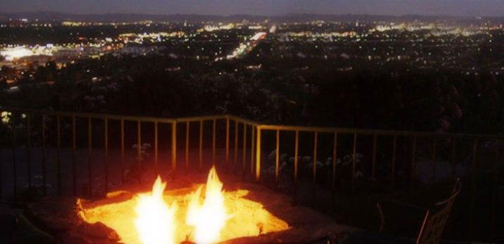 View from a restaurant above San Bernardino