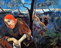 Christ in the Garden of Olives, Paul Gauguin, 1889
