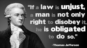Jefferson on Civil Disobedience