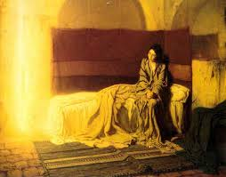 "Paris, France, 1898 ""THE ANNUNCIATION"" by Henry Ossawa Tanner, American (1859 - 1937)"