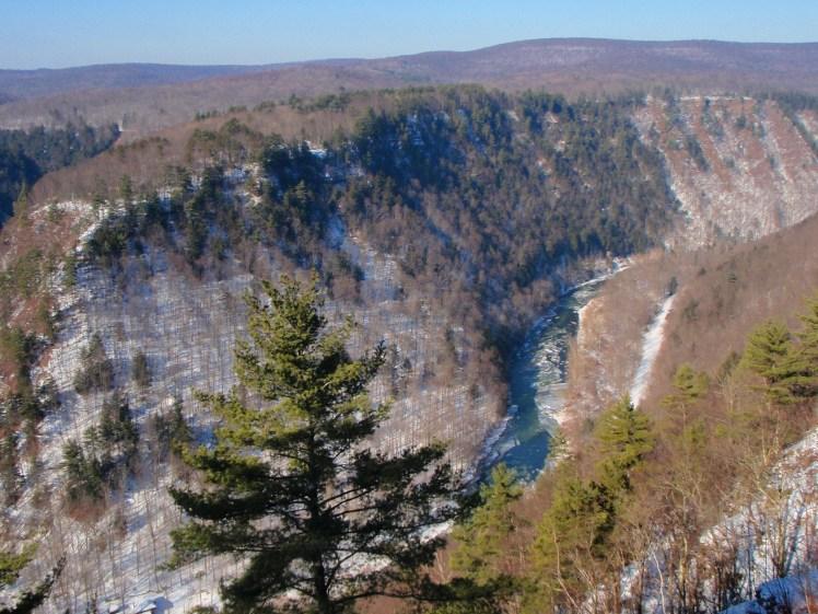 Pennsylvania Grand Canyon in Winter