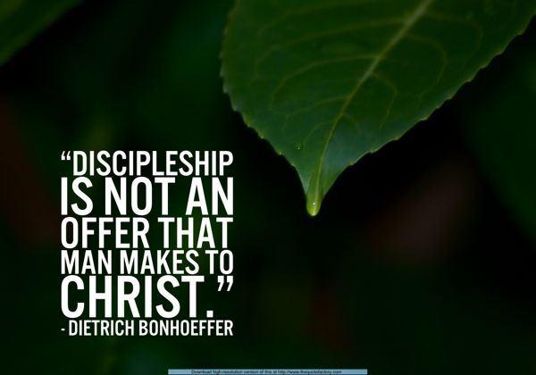 Bonhoeffer Meme on Discipleship