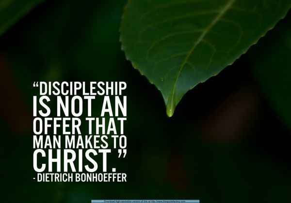 Bonhoeffer Meme on Discipleship