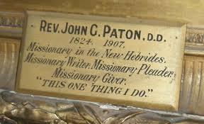 John Paton Plaque