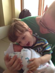 Dan, Owen and Ellie (Day One of Being a Big Brother)