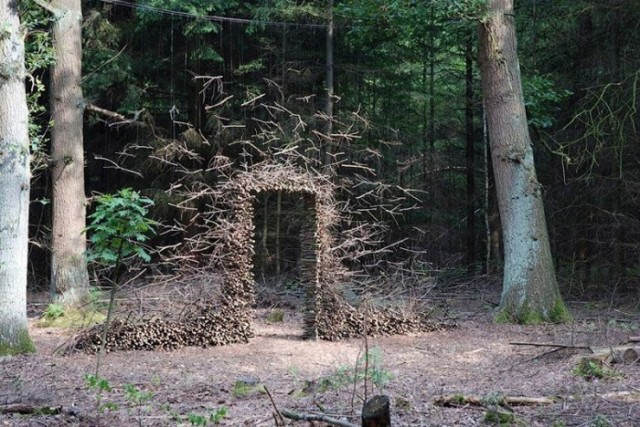 Gravity Defying Land Art (Door)