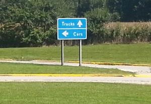Rest area signage