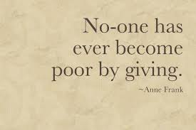 Benevolence Giving (Anne Frank)