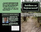 Settlers or Sojourners Cover Preview