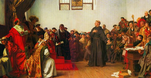 Luther at the Diet of Worms, by Anton von Werner, 1877