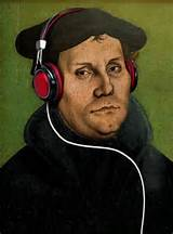 Martin Luther with Headphones