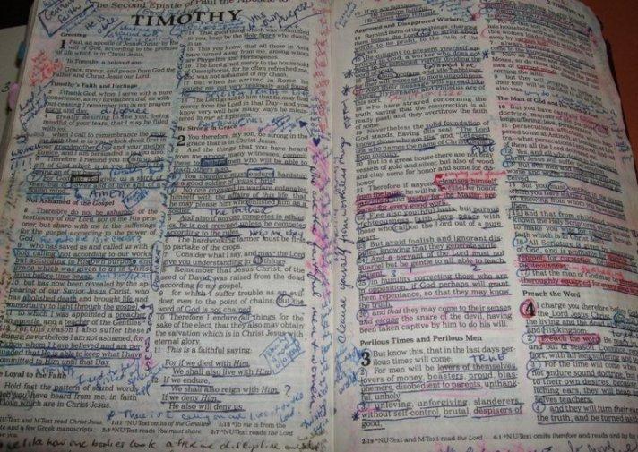 Worn Bible 1