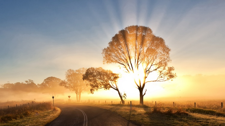 Spectacular Sunrise HD Desktop Background