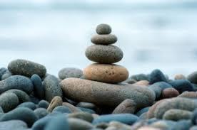 Beach stacked stones