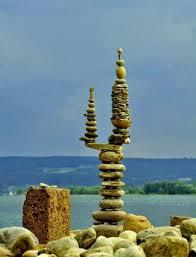 Cactus like stacked stones