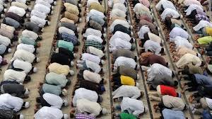 muslims in prayer