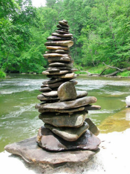 Stacked River Stones