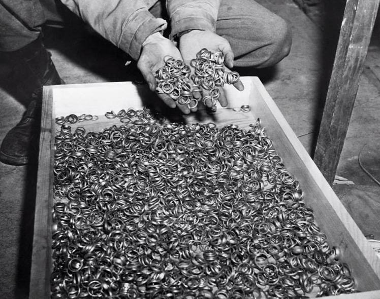 wedding rings removed from holocaust victims