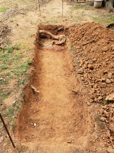 Stage #2:Digging the Pit 16' x 3' x 10""