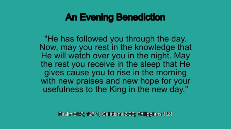 Benediction 3a