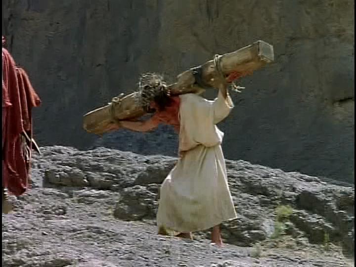 Jesus carrying crossbeam 1