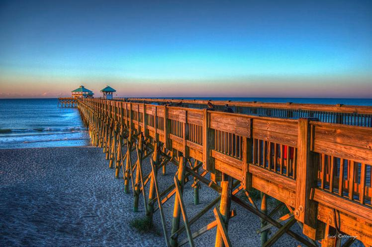 Sunrise at folly beach pier charleston (art-reid-callaway)