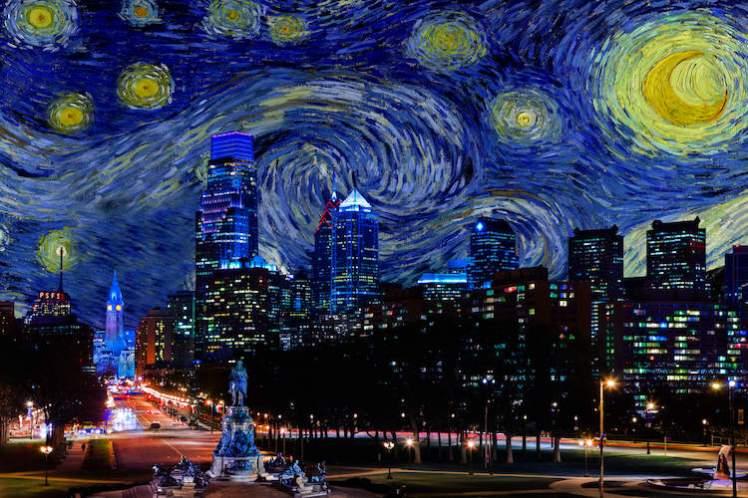 Dark Night 9 (Starry Night over Philly)